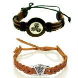 Celtic Leather Wristbands